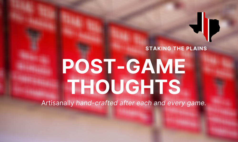 Post Game Thoughts Texas Tech 81 Grambling 40 Staking The Plains
